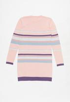 POLO - Girls keira striped knit dress - pink