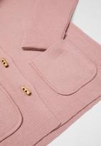 POLO - Girls tessa hooded knit jacket - pink