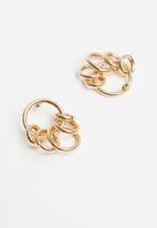 Superbalist - Linked hoop earrings - gold