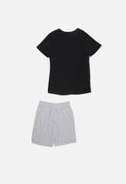 Superbalist - Nasa shorts & tee pj set - black & grey