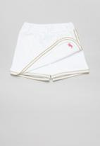 POLO - Girls addison scalloped wrap short - white