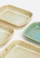 Excellent Housewares - Reactive tapas dish set of 4 - multi
