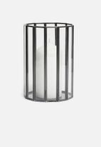H&S - Facet glass candle lantern - black