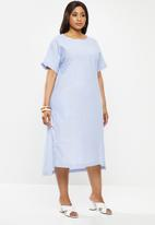 AMANDA LAIRD CHERRY - Plus sodwana dress - blue