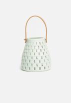 H&S - Ceramic glow lantern - mint green