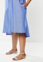 AMANDA LAIRD CHERRY - Plus linda tunic - blue