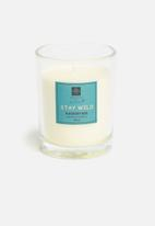 H&S - Blackberry basil candle - teal