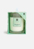 H&S - Vanilla amber candle - green