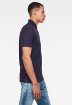 G-Star RAW - Oluv slim short sleeve polo - sartho blue