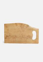 Excellent Housewares - Rustic cutting board - neutral