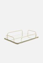 H&S - Elegant mirrored tray - gold
