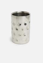 Excellent Housewares - Hammered wine cooler - silver