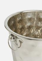 Excellent Housewares - Hammered champagne cooler - silver
