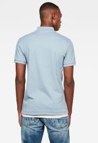 G-Star RAW - Oluv slim short sleeve polo - ash blue