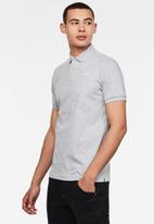 G-Star RAW - Oluv slim short sleeve polo - grey