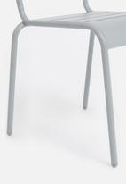 H&S - Slate metal chair - grey