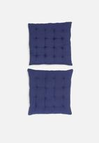 H&S - Essential seat cushion set of 2 - navy