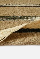 H&S - Palmleaf rug - brown