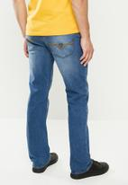 GUESS - Slim straight jeans - mid washed blue
