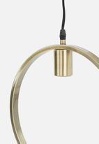 Sixth Floor - Brass circle pendant - brass