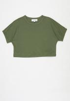 Superbalist - Elasticated sleeve oversized tee - green