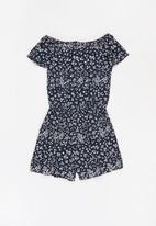 name it - Vinaya short sleeve playsuit - navy