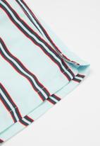 Cotton On - Bailey board short - vertical stripe & frosty blue