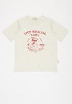 Sticky Fudge - Stop whaling tee - beige