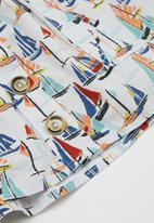 Sticky Fudge - Girls button skirt - multi