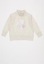 Sticky Fudge - Donut worry turtle neck track top - beige