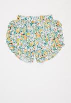 Sticky Fudge - Girls floral frill shorts - multi