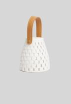 H&S - Ceramic glow lantern - white