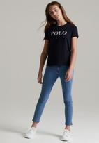 POLO - Girls Roxanne printed short sleeve tee - navy