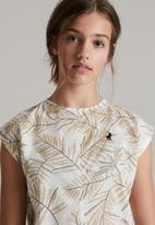 POLO - Girls lilian printed blouse - stone
