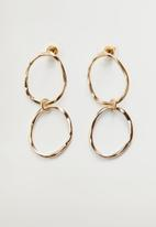 MANGO - Earrings imma  - gold