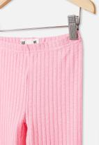Cotton On - Huggie tights  - cali pink/textured rib