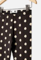 Cotton On - Huggie tights - phantom/vanilla daisy