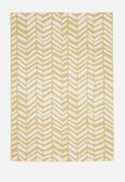 Hertex Fabrics - Chevy woven outdoor rug - lemon