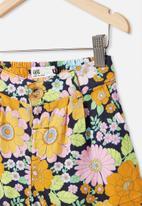 Cotton On - Cassidy short - navy blazer/ retro floral