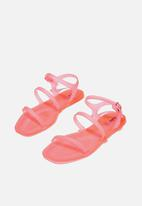 Cotton On - Triple strap jelly sandal - neon pink