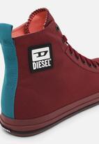Diesel  - S-astico mid cut sneakers - tawny red