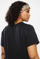 Missguided - Plus jersey smock T-shirt - black