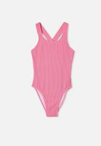 Free by Cotton On - Lottie rib one piece - pink punch