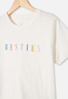 Free by Cotton On - Girls classic short sleeve tee - vanilla