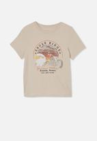 Free by Cotton On - Girls classic short sleeve tee - beige