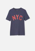 Free by Cotton On - Free boys skater short sleeve tee - vintage navy
