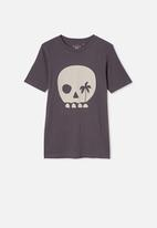 Free by Cotton On - Free boys skater short sleeve tee - grey