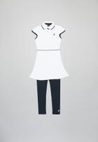 POLO - Girls Naomi tennis dress & legging set - white