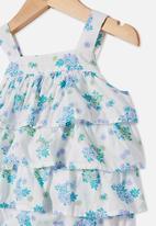 Cotton On - Tilly ruffle bubbysuit - blue