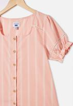 Free by Cotton On - Pippa puff sleeve top - pink